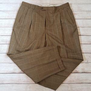 Hickey Freeman 100% Wool Plaid Trouser/Dress Pants